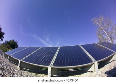 the details of a black a solar panel