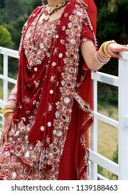 Details of bride's wear at the punjabi wedding, indian wedding accessories