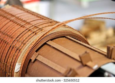 details of broken high voltage power transformer at repair shop