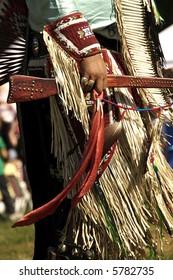 Details of ceremonial clothing at 2007 Mahkato Wacipi Pow Wow in Mankato, Minnesota