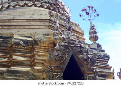 Details of church, Thailand.