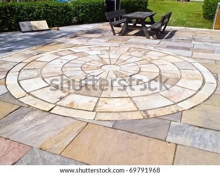 Details Circle Design Stone Floor Tiles Stock Photo Edit Now