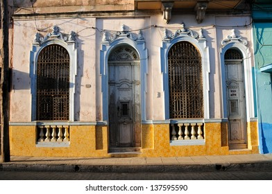 Details of colonial houses in Santa Clara, Cuba