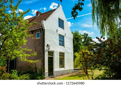 Details of cultural heritage in an old Dutch village (De Rijp) in North Holland. One of the authentic villages in the beemster polder around the city of Alkmaar. Zaanse design houses, facades, region