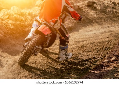 Details of debris in a motocross race, Close-up of motocross wheel