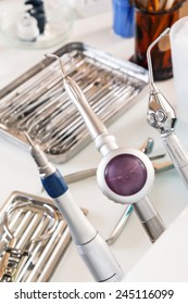 Details of dentist workplace
