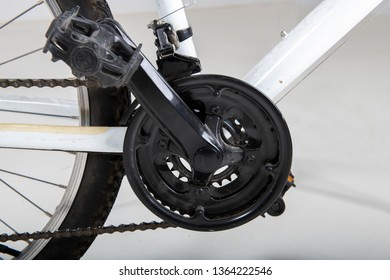 Details of a dirty bike