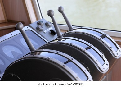 Details of equipment in the wheelhouse of the ship