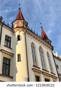 Details of the facade of Town hall building in Rzeszow, Poland