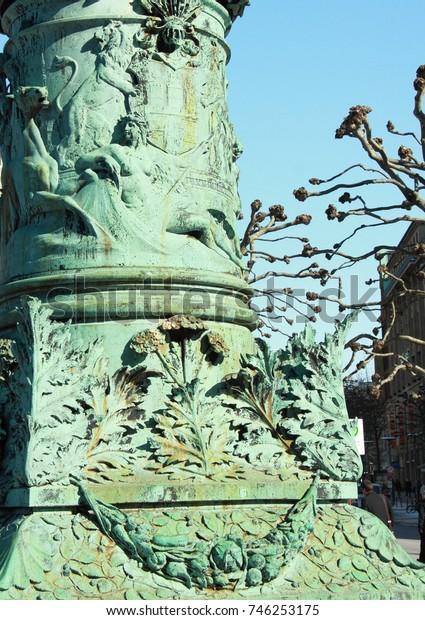 details facade town hall of Hamburg