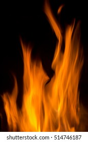 Details of a fire in a mountainous area