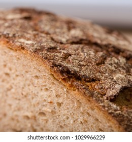 details of a fresh cutted bread