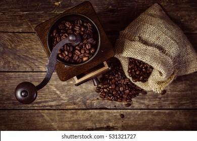 Details of Fresh ground coffee