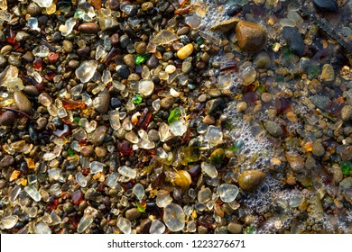 Details of Glass Beach at Fort Bragg