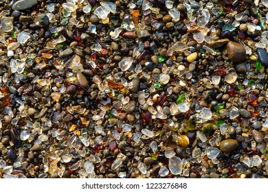 Details of Glass Beach at Fort Bragg California