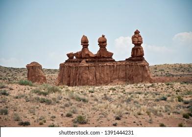 Details of Goblin valley desert rocks