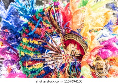 Details of hands, candles, hats and costumes of the Barranquilla´s Carnival, Atlántico Colombia.