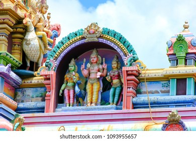 details of the hindu temple at victoria on the seychelles island