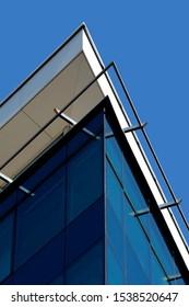 Details of hotel building exterior