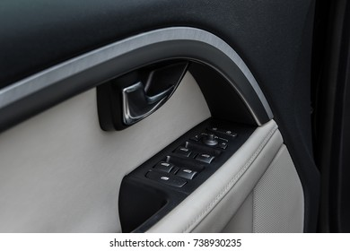 Details of the inside of a car door