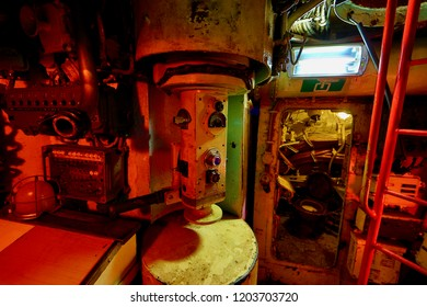 Details inside a decommissioned Russian submarine