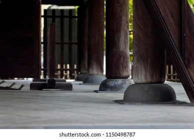 Details of Japanese Buddhist temple in Tokyo, Japan