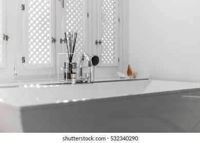 Details of luxury bathroom