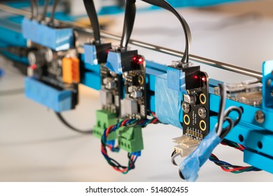 Details of the machine with stepper motor