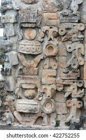 Details of Mayan Puuc Architecture Style - Uxmal, Mexico.Puuc architecture is a Maya architectural style that is prevalent in the Mexican state of Yucatan Peninsula.