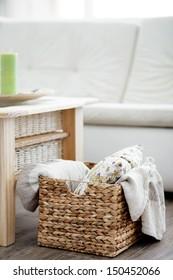 Details of modern cozy interior