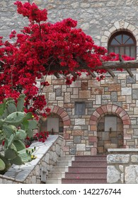 details of the monastery Savvas on the island of Kalymnos