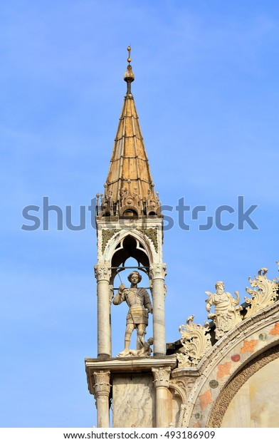 "Details of the most famous church in Venice called ""San Marco"", Italy."