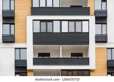 Details Of New Constructed Multi Story Building. Modern Residential  Construction. Residential Fund