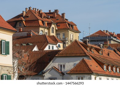Details of the old building exteriors of Maribor city (Slovenia)