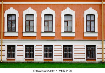 Details of old building at the Fort in Saint Petersburg, Russia.