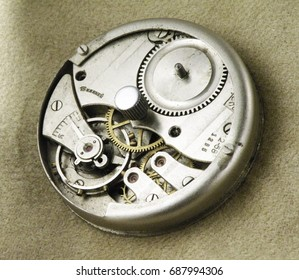Details of old clock close up