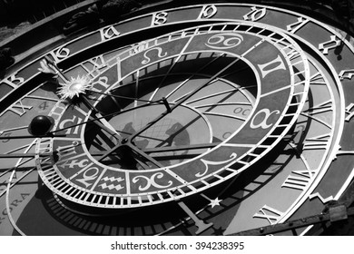 details of the old Prague Astronomical Clock  - Shutterstock ID 394238395
