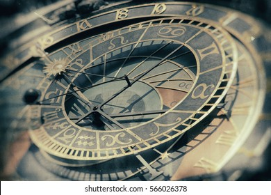 details of the old Prague Astronomical Clock