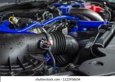 Details on car engine