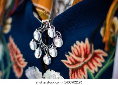 "Details on a Norwegian ""bunad"", national costume. From Nordland in Norway."