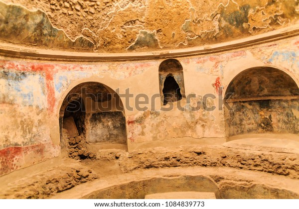 Details in Public Baths in Pompeii