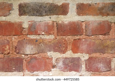 Details of a red-brown brick wall