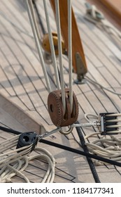 Details of a sailboat in old style