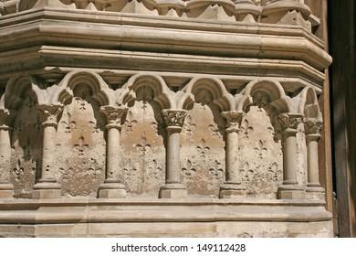 Details of Saint Denis Basilica Cathedral, France