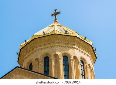Details of Sameba cathedral in Tbilisi, Georgia
