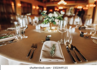 details of serving close up on a holiday table