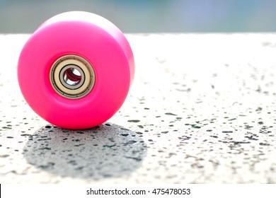 details of a skateboard wheel