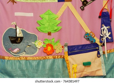 Details of soft creative mat for development of child(tree, sea, ship, fish, flower, car)