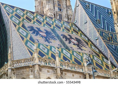 Details of the St. Stephen Cathedral's roof,Vienna, Austria.