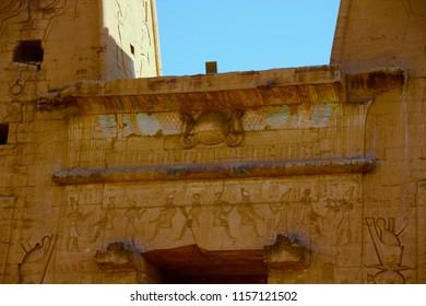Details of the Temple of Edfu, Edfu, Aswan Governate, Egypt